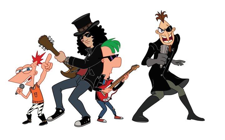 Slash във 'Phineas And Ferb The Movie'