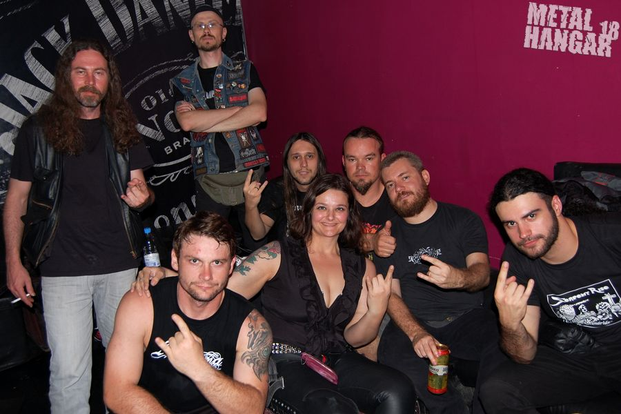 Pain of Soul и SoDamned по време на концерта им в София