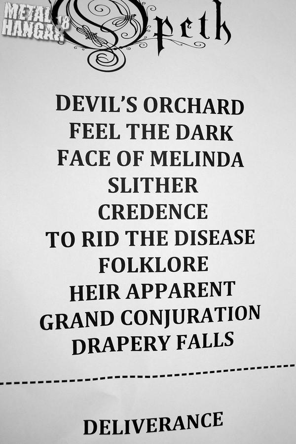 Opeth - setlist