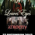 LEAVES EYES & ATROCITY 2013 Poster