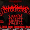 napalm death,hatebreed Belgrade poster -small