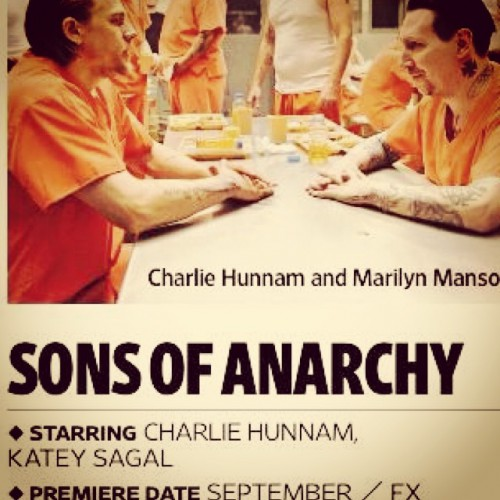 Charlie Hunnam и Marilyn Manson