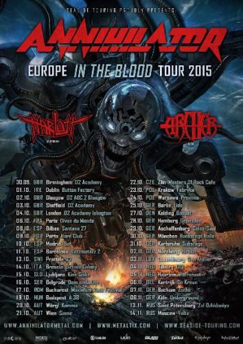 annihilator tour2015