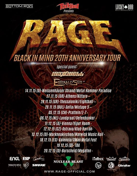 rage black in mind tour poster emerald sun maxxwell