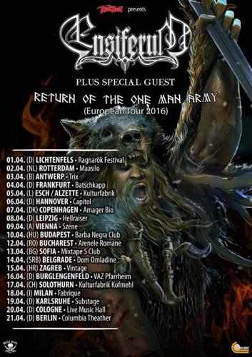 Ensiferum tour 2016