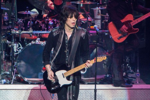 PHOENIX, AZ - DECEMBER 07: Tom Keifer of Cinderella performs onstage at Alice Cooper's 13th Annual Christmas Pudding Concert at Comerica Theatre on December 7, 2013 in Phoenix, Arizona. (Photo by Daniel Knighton/Getty Images)