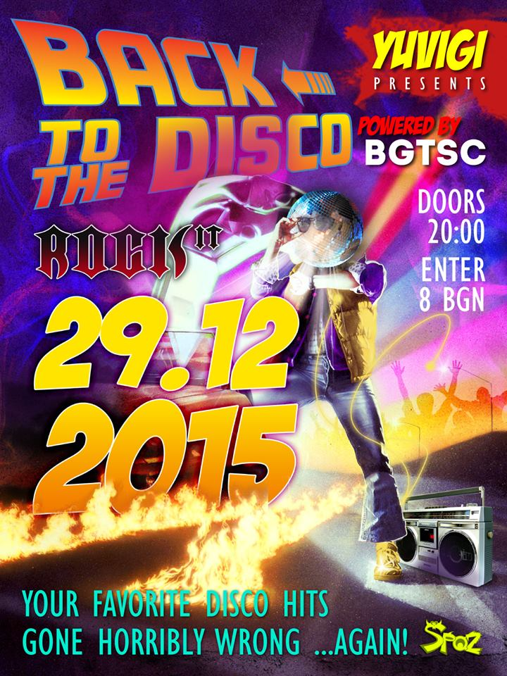 BACK TO THE DISCO!!! - Poster
