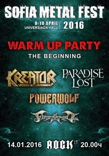 Sofia Metal Fest 2016 Warm up