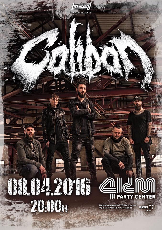 CALIBAN @Party Center 4KM, Sofia poster