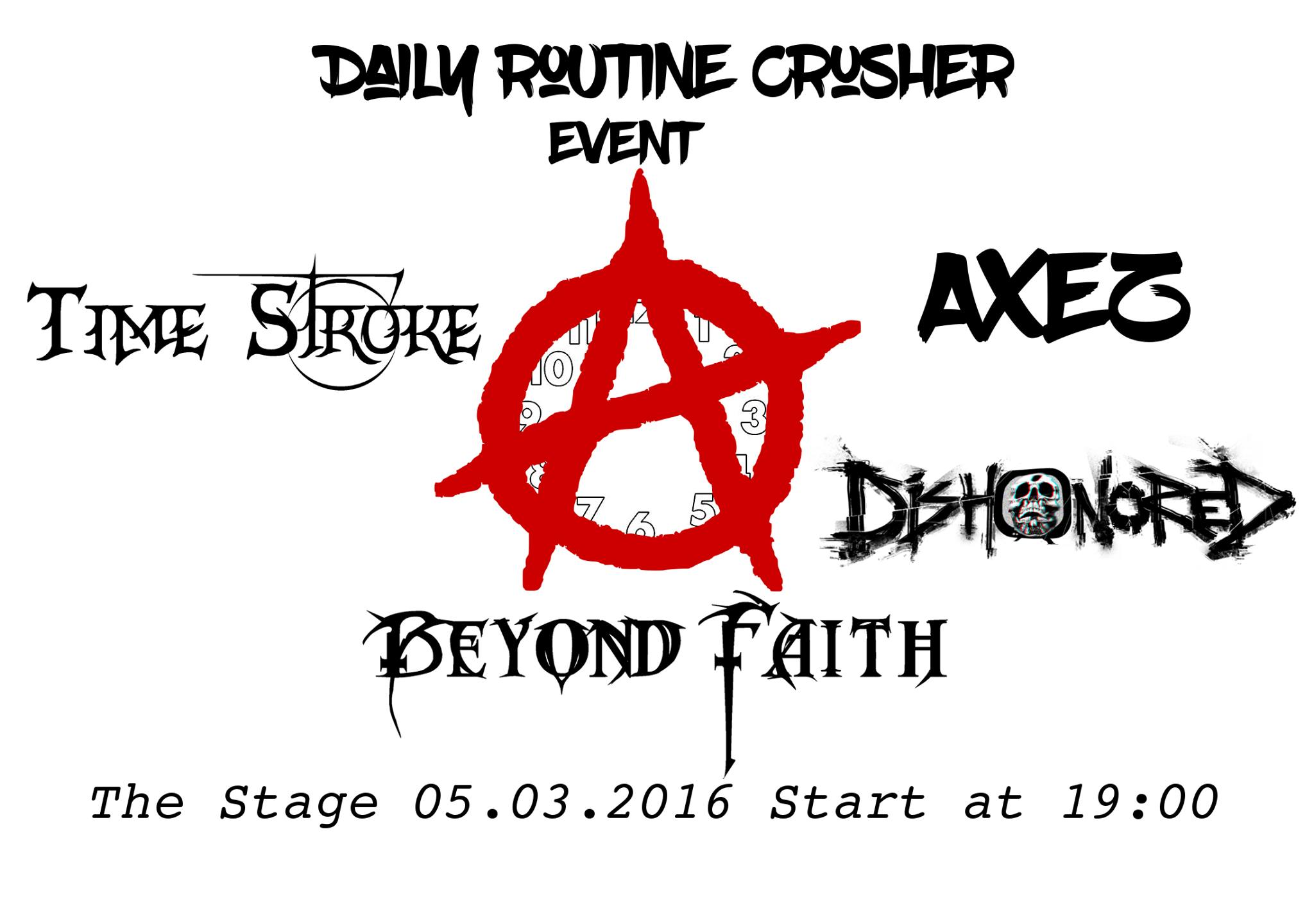 Daily Routine Crusher Event with Time Stroke, Beyond Faith, Dishonored & AxeZ
