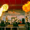Harmasar -onstage with firebreathers