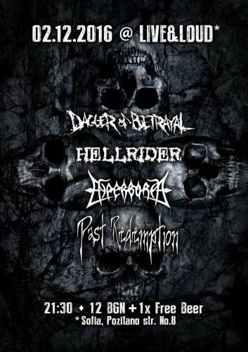 DAGGER OF BETRAYAL, HYPERBOREA, PAST REDEMPTION, HELLRIDER