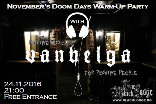 Warm-up party 'November's Doom Days with Vanhelga