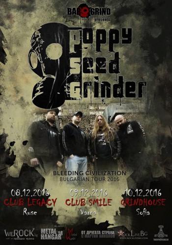 poppy seed grinder tour 2016