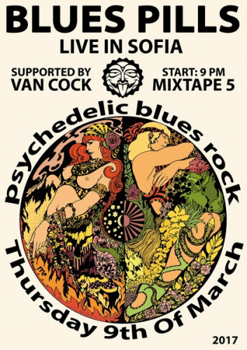 Blues Pills & Van Cock Poster