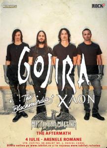 Информация за концерта на GOJIRA на 4-ти юли в Букурещ