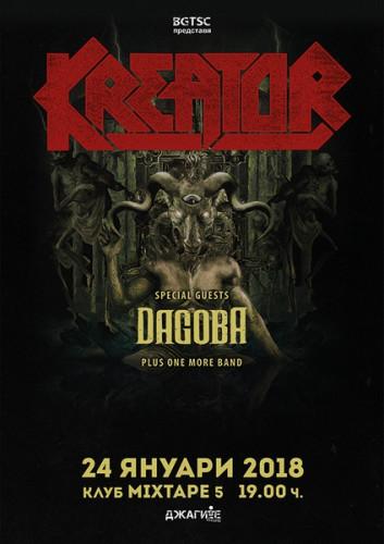 POSTER Kreator, Dagoba +1 band