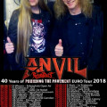 Anvil Rampart Tour poster