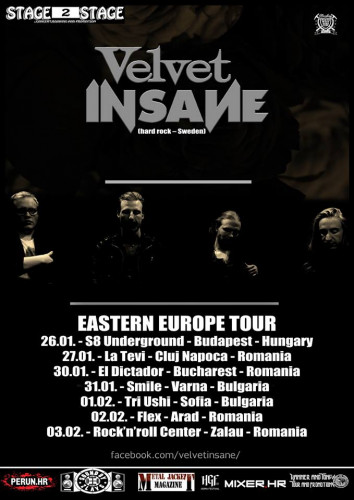 VELVET INSANE 2018 tour