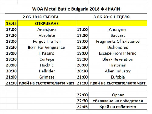 WOA MB BG 2018 Finals Programme Media