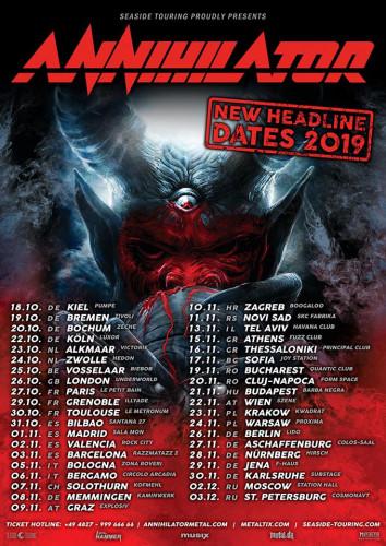 annihilator new tour 2019