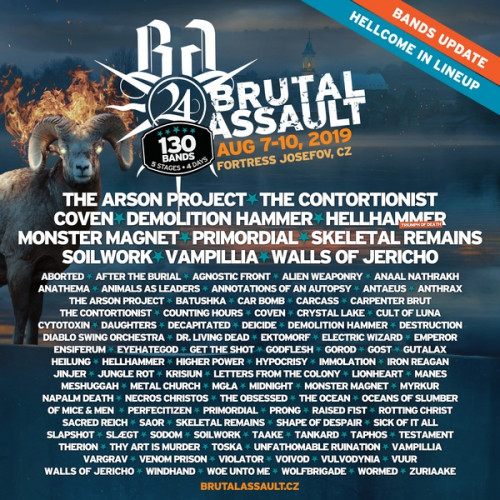 Brutal Assault bands update - 4.2.2019