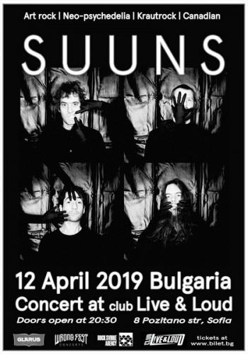Suuns Poster Sofia 12 April
