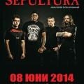 SEPULTURA 20140608 POSTER BG