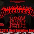napalm death,hatebreed Belgrade poster -small