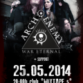 Arch Enemy new poster Sofia 2014 with Alissa White-Gluz