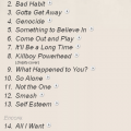 the offspring setlist