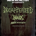 Sofia Metal Fest after party with Decapitated, Hate, Thy Disease and more