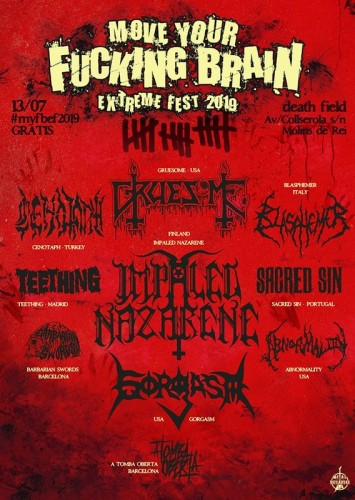 Move your fuckin brain fest 2019 poster