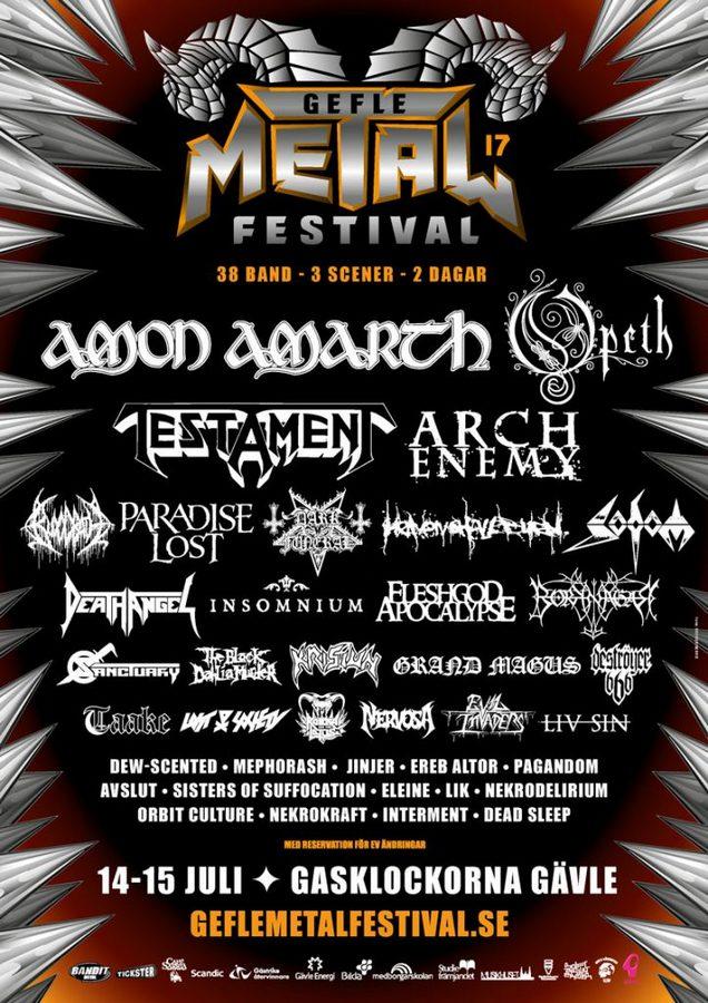 Gefle Metal Fest poster 2017