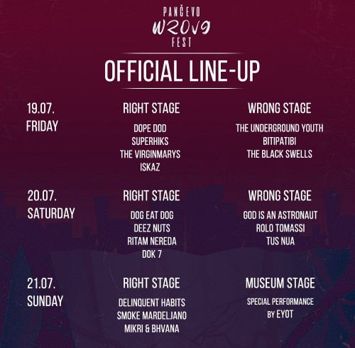 wrong fest lineup2019