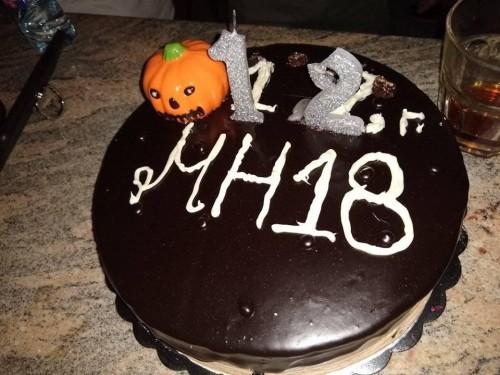 12 years metal hangar cake