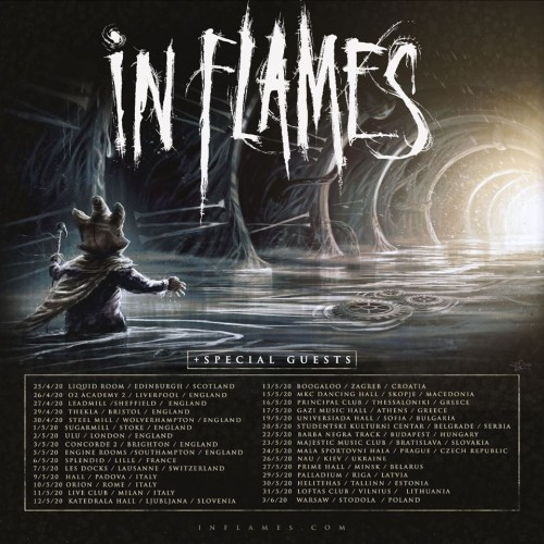 IN FLAMES tour 2020